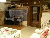 obývací pokoj - chalupa k pronájmu Verměřovice