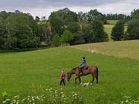 Projížďka na koni v okolí chalupy