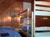 dětská ložnice(patrová postel + 2 jednolůžka) - chata k pronájmu Valteřice