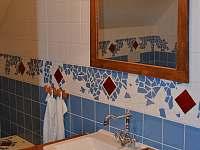 Modrý apartmán- koupelna - pronájem chalupy Králíky - Prostřední Lipka