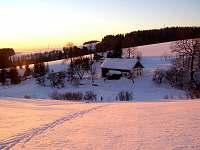 zima ve Valteřicích - pronájem chalupy