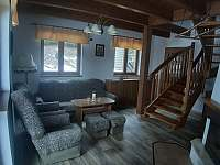 obývací pokoj - chata k pronajmutí Orličky