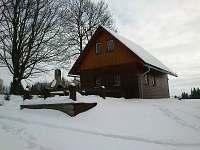 Chata v zimě - k pronájmu Bartošovice v Orlických horách
