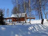 Chata v zimě - Bartošovice v Orlických horách