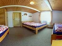 Čtyřlůžkový pokoj menší s výhledem na zahradu III. - Červená Voda - Šanov