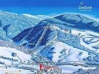 přesné umístění objektu ve ski areálu Deštné