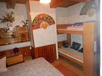 Dolní ložnice - pronájem chalupy Rokytnice v Orlických horách