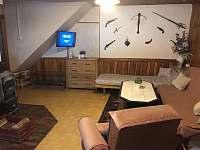 obývací pokoj - chalupa k pronájmu Rokytnice v Orlických horách