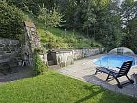 Bazén u chalupy Nature - k pronajmutí Horní Dobrouč