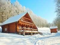 Srub k pronajmutí - zimní dovolená Orličky