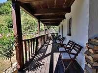 Terasa - pronájem chaty Deštné v Orlických horách