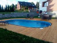 relax u vyhřívaného bazénu