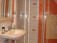 Koupelna s WC ve druhém APT - chalupa k pronajmutí Jamné nad Orlicí