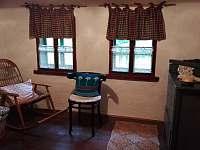 Ložnice - zde je umístěn rozkládací gauč - ideální pro děti - pronájem chalupy Písařov