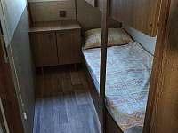 Ložnice s dvoupatrovou postelí - 2 lůžka - chata k pronajmutí Podolí u Mohelnice