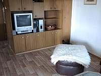Obývací pokoj - TV, společenský prostor - chata k pronájmu Podolí u Mohelnice