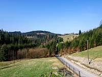 Příjezdová cesta - vila ubytování Hrčava