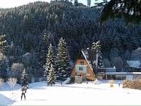 V zimě zdrama i vlek a instruktáž - chata ubytování Halenkov