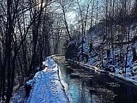 Papírenský náhon v zimě. - Hradec nad Moravicí - Žimrovice