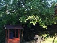 Posezení pod ořechem - chata ubytování Dolní Domaslavice