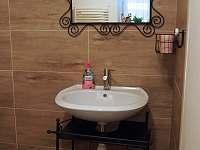 Koupelna ve velké půlce - chalupa k pronájmu Kružberk