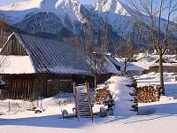 Výhľad na Belianske Tatry v zime