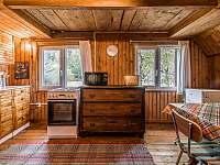 Plne vybavená kuchyňa so sporákom, chladničkou a mikrovlnkou - chata k pronájmu Lučivná - Lopušná Dolina