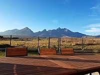 výhľady z terasy - vila ubytování Stará Lesná