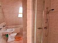 Koupelna se sprchovým koutem a toaletou - chata k pronájmu Štôla