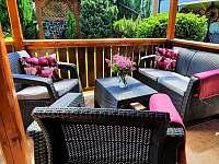 Raňajky na slnečnej terase - chata k pronájmu Lubela - Liptov