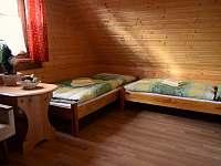 Spálňa 2 - s výhľadom do záhrady - chata k pronájmu Lubela - Liptov