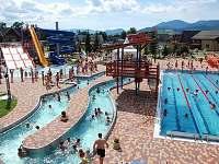 Termálne bazény Bešeňová 12 km,Lúčky 12 km,Tatralandia 27 km