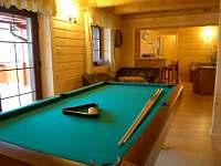 Spoločenská miestnosť-biliard - chata ubytování Liptovský Trnovec