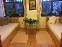 Druhá spáľňa s dvomi samostatnými širokými posteľami - chata k pronájmu Košiarny briežok