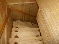 schodi s obivacki do spalne - chalupa k pronájmu Liptovský Mikuláš - Bodice