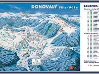 Mapa vlekov a lanoviek na Donovaloch