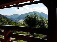Výhled z terasy - chata k pronajmutí Zázrivá