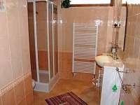 samostatná kúpelňa so sprchovým kútom a WC k izbe č.1