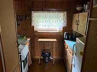 Kuchyn přízemí - chata ubytování Vlastějovice