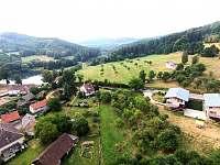 Letecký pohled ze severozápadu - apartmán k pronajmutí Monínec