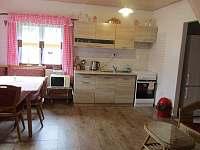 kuchyň s obýváčkem - chata k pronájmu Ohrazenice