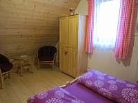 horní ložnice 1 - chata k pronajmutí Ohrazenice