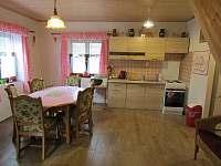 obývací pokoj + kuchyň - chata k pronajmutí Ohrazenice
