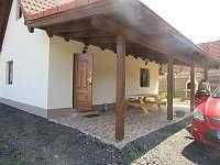 terasa - chata ubytování Ohrazenice