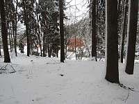 v zimě - chata k pronájmu Ohrazenice