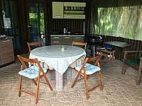 Kuchyňka - pronájem chaty Drahenice
