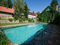 bazén za poplatek - chalupa k pronajmutí Krásná Hora nad Vltavou - Vletice