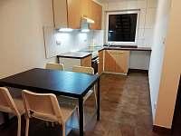 kuchyn s jídelním koutem - apartmán k pronajmutí Klučov