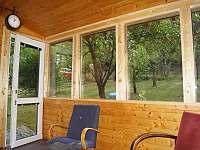 Vnitřní terasa - chata ubytování Kamýk nad Vltavou