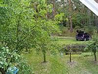 Výhled z balkónu - chata k pronajmutí Kamýk nad Vltavou